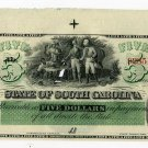 State of South Carolina, Columbia, $5, January__1866