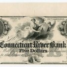 New Hampshire, Charlestown, Connecticut River Bank, $5, 18--,(1850s), Proof