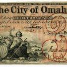 Nebraska Territory, City of Omaha, $3, Sept 1, 1857