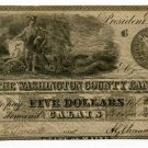Maine, Calais, Washington County Bank, $5, November 2, 1835