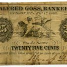Wisconsin, Hudson, Alfred Goss, 25 Cents, November 1, 1862