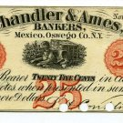 New York, Mexico, Chandler & Ames Bankers, 25 Cents, November 1, 1862