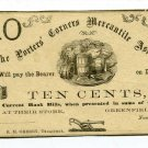 New York, Greenfield, The Porters' Corners Mercantile Assoc., 10 Cts, November 1862, Unissued