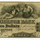 New York, NY, Corn Exchange Bank, $3, April 15, 1864