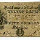 New York, NY, Fulton Bank of the City of NY, $5, Feb 4, 1831