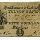 New York, NY, Fulton Bank of the City of NY, $5, Feb 4, 1831