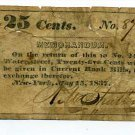 New York, New York City, R.M. Stratton, 25 cents, May 15, 1837