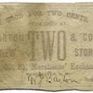 New Hampshire, Manchester, Merchants Exchange, 2 Cents, no date, (1860s)