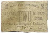 New Hampshire, Manchester, Merchants Exchange, 2 Cents, no date, (1860s)