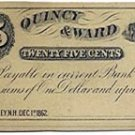 New Hampshire, Rumney, Quincy & Ward, 25 Cents, December 1, 1862