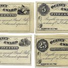 New Hampshire, Rumney, Quincy & Ward, 5, 10, 25 & 50 Cents, December 1, 1862