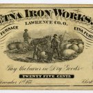 Ohio, Etna Furnace, Etna Iron Works, Lawrence County, 25 Cents, December 1, 1873