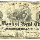Ohio, West Union, Bank of West Union, $100, Jan 12, 1830