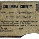 Pennsylvania, McDowell's Mills, $1, 1837