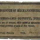 Pennsylvania, Mechanicsburg, 6 ¼ Cents, January 1843