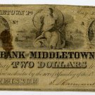 Pennsylvania, Middletown, Bank of Middletown, $2, May 24, 1841