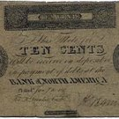 Pennsylvania, Philadelphia, The Bank of North America, 10 Cents, January 10, 1815