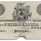 Pennsylvania, Philadelphia, Southwark Bank in the County of Philadelphia, $5, 18--, (1820s)