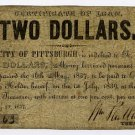 Pennsylvania, Pittsburgh, City of Pittsburgh, $2, May 20, 1837
