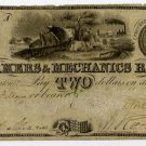 Vermont, Burlington, Farmers and Mechanics Bank, $2, Nov 3, 1836