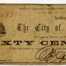 Virginia, Lynchburg, City of Lynchburg, 60 Cents, May 1, 1862