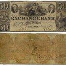 Virginia, Petersburg, The Exchange Bank of Virginia, Norfolk, $50, January 17, 1856