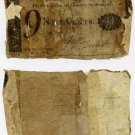 New York, Albany, Corporation of the City of Albany, 9 Cents, January 10, 1815