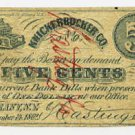 New York, Albany, Knickerbocker Co., (Hastings and Co.), 5 Cents, November 14, 1862
