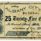 New York, Albany, C. Merrick, 25 Cents, Oct 6, 1862