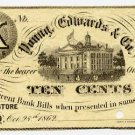New York, Albany, Young, Edwards & Co., 10 Cents, Oct 28, 1862