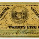 New York, Binghamton, G Collins & Son, 25 Cents, December 10, 1862