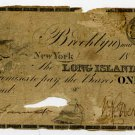 New York, Brooklyn, Long Island Bank, $1, March 1, 1862