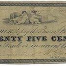New York, Brooklyn, W. Richmond, 25 Cents, July 3, 1837