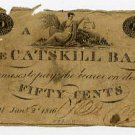 New York, Catskill, Catskill Bank, 50 Cents, Jan 2, 1816