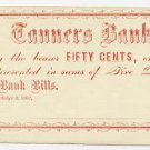 New York, Catskill, (Joshua Fiero), 50 Cents, October 3, 1862