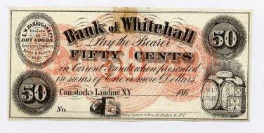 New York, Comstocks Landing, E.W. Harrigan & Co., 50 Cents, 186-, (1862-63)