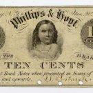 New York, Coventry, Phillips & Hoyt, 10 Cents, Nov 20, 1862