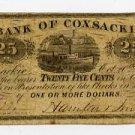 New York, Coxsackie, Hamilton and Smith, 25 Cents, Oct 20, 1862