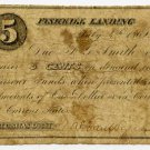 New York, Fishkill Landing (now Beacon), Wal? Van Wagner?, 5 Cents, July 4, 1862