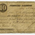 New York, Fishkill Landing (now Beacon), Wal? Van Wagner?, 10 Cents, July 4, 1862