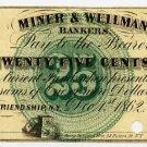 New York, Friendship, Allegany County, M.C. Mulkin & Co., 25 Cents, Dec 1, 1862