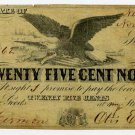 New York, Hermon, Otis Earl, 25 Cents, Nov 1, 1862