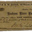 New York, Hudson, J.W. Fairfield, 10 Cents, October 1, 1862