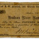 New York, Hudson, J.W. Fairfield, 15 Cents, October 1, 1862