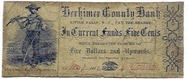 New York, Little Falls, Adam Fralick, 10 Cents, October 7, 1862
