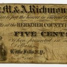 New York, Little Falls, S.M. & A. Richmond, 5 Cents, Nov 15, 1862