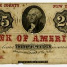 New York, Luzerne, Greene County, (Gilpeck and Bartle?), 25 Cents, 186-