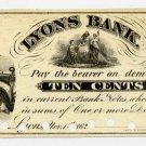 New York, Lyons, (N.R. Mirick), 10 Cents, Nov 1, 1862