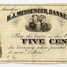 New York, Marathon, H.J. Messenger, Banker, 5 Cents, 186-