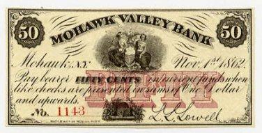 New York, Mohawk, L.L. Lowell, 50 Cents, Nov 1, 1862